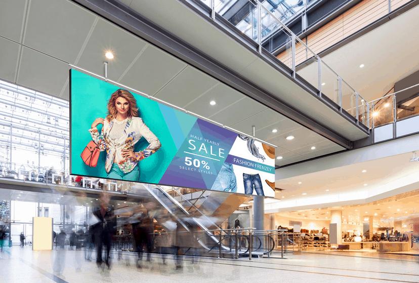 LED Display für Einkaufszentrum
