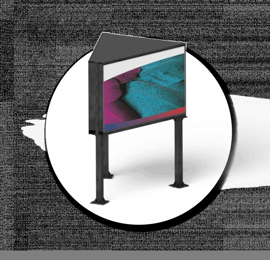 Outdoor LED Display V-Konstruktion